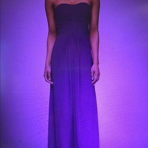 David's Bridal Long Chiffon Dress